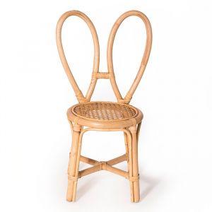 Rotan stoeltje konijnenoren Poppie Toys