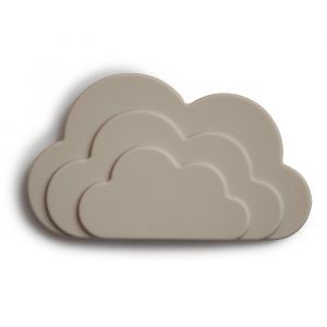 Siliconen bijtspeeltje Cloud Gray Mushie & Co