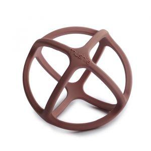 Siliconen speelbal Woodchuck Mushie & Co