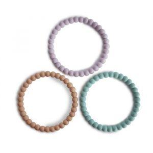 Siliconen bijtringen Bracelet lilac (3st) Mushie