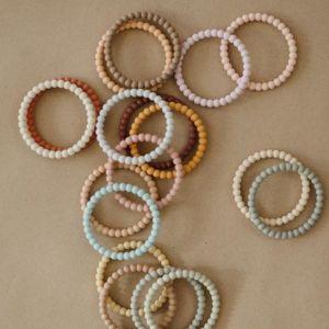 Siliconen bijtringen Bracelet linen (3st) Mushie