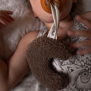 Speendoekje maan teddy koffie Dappermaentje