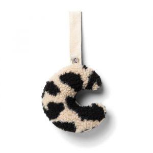 Speendoekje maan teddy leopard black & white Dappermaentje