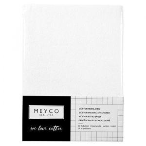 Molton hoeslaken stretch wieg wit Meyco