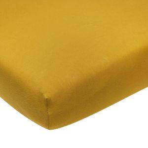 Hoeslaken ledikant jersey okergeel (60x120cm) Meyco