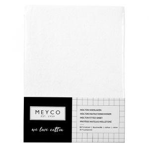 Molton hoeslaken stretch meegroeibed wit 70x140cm Meyco