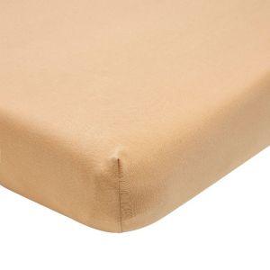Hoeslaken meegroeibed jersey warm sand 70x140 Meyco