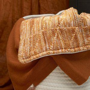 Ledikantdeken Knit camel Meyco