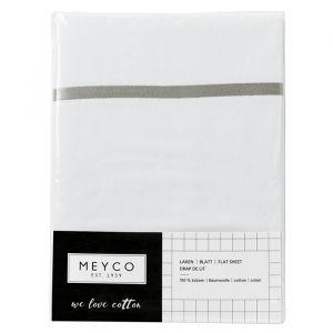 Ledikantlaken bies grijs Meyco