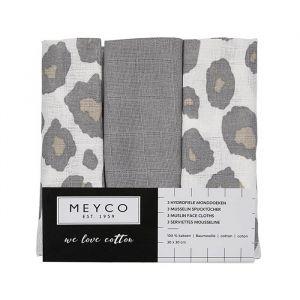 Spuugdoekjes panter neutraal mix (3st) Meyco