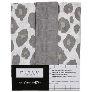 Washandjes panter neutraal mix (3st) Meyco