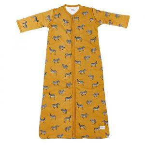 Slaapzak met afrits mouw zebra honey gold (110cm) Meyco