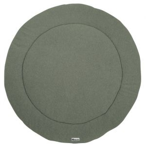 Boxkleed rond Knit forest Green (95cm) Meyco