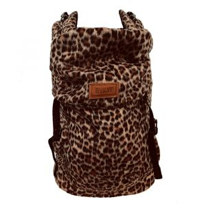 Draagzak Click Carrier Classic Furry Leopard Rust ByKay