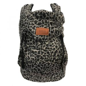 Draagzak Click Carrier Classic Furry Leopard Grey ByKay