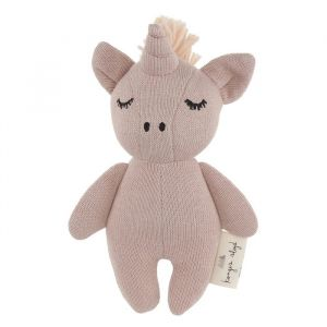 Knuffel mini unicorn rose fawn Konges Slojd