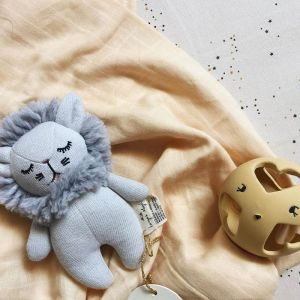 Knuffel Mini Lion grijs Konges Slojd