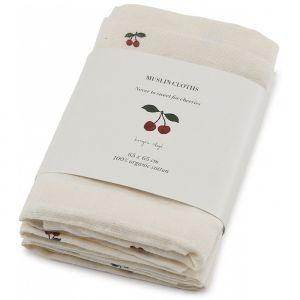 Hydrofiele doeken Cherry (3st) Konges Slojd