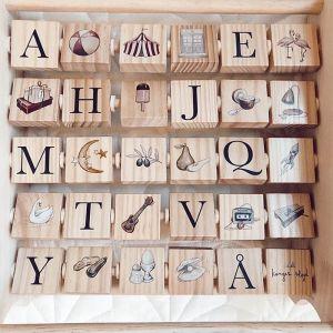 Houten alfabet frame Konges Slojd