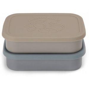 Siliconen lunchboxen blue mix (2st) Konges Slojd