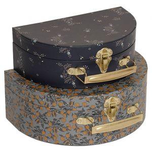 Koffertjes Orangery/Nostalgie blue (2st) Konges Slojd