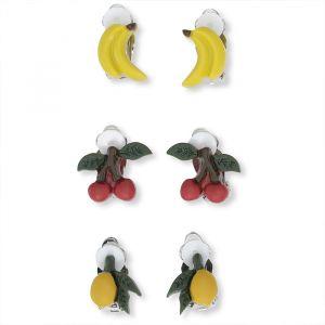 Oorclipjes fruit (3st) Konges Slojd