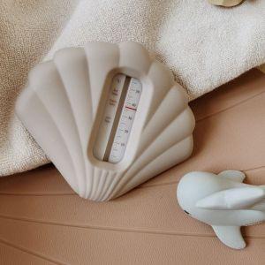 Siliconen badthermometer Shell warm grey Konges Slojd