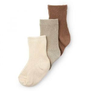 Sokken rib almond/grey/creme (maat 25-28) Konges Slojd