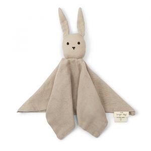 Knuffeldoek Rabbit dark clay Konges Slojd