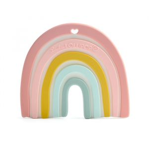 Siliconen bijtspeeltje Rainbow pastel LouLou Lollipop