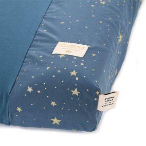Aankleedkussenhoes Calma Gold Stella/Night Blue Nobodinoz