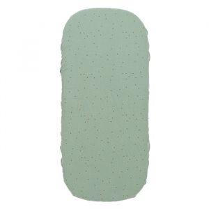 Hoeslaken wieg Melody toffee sweet dots/eden green Nobodinoz