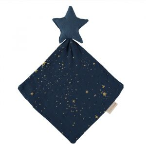 Knuffeldoek Star Gold Stella/Night Blue Nobodinoz
