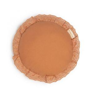 Kussen Vera Eyelet rond sienna brown Nobodinoz