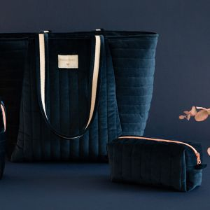 Velvet toilettas Savanna night blue Nobodinoz