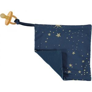 Speendoekje Dodo gold stella/night blue Nobodinoz