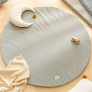 Speelmat rond Full Moon Willow Soft Blue Nobodinoz