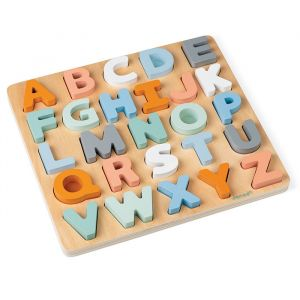 Houten alfabet puzzel Sweet Cocoon Janod
