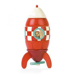 Houten magneet raket Janod