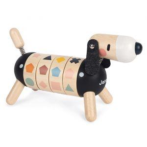 Houten hond met vormen en kleuren Sweet Cocoon Janod