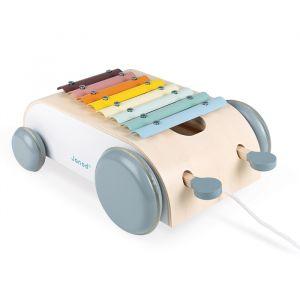 Houten xylofoon op wielen Sweet Cocoon Janod