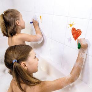 Kleuren in bad krijtjes en spons Janod