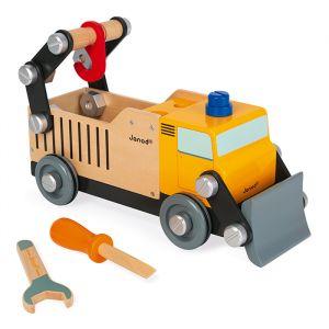 Vrachtwagen wegwerker Janod Brico'kids