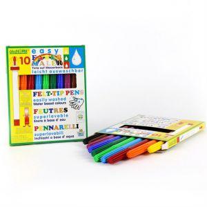 Ecologische uitwasbare vilstiften 10 kleuren (4mm) Ökonorm