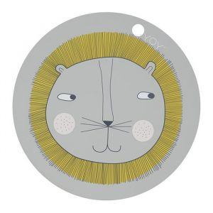 Placemat leeuw lichtgrijs Oyoy
