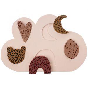 Foam puzzel roze VanPauline