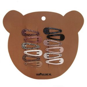 Haarclipjes Bear 3cm (12st) VanPauline