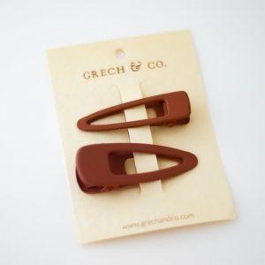 Haarclipjes Rust (2st) Grech & Co