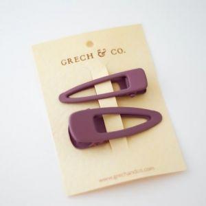 Haarclipjes Burlwood (2st) Grech & Co