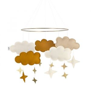 Mobiel Fantasy Clouds honey mustard Baby Bello